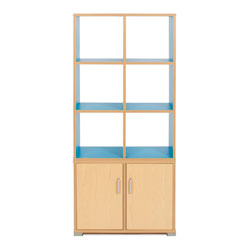 Bubblegum 6 Cube & 2 Bay Low Level Cupboard Room Divider