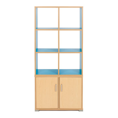 Bubblegum 6 Cube & 2 Bay Low Level Cupboard Room Divider - RDIV-B2