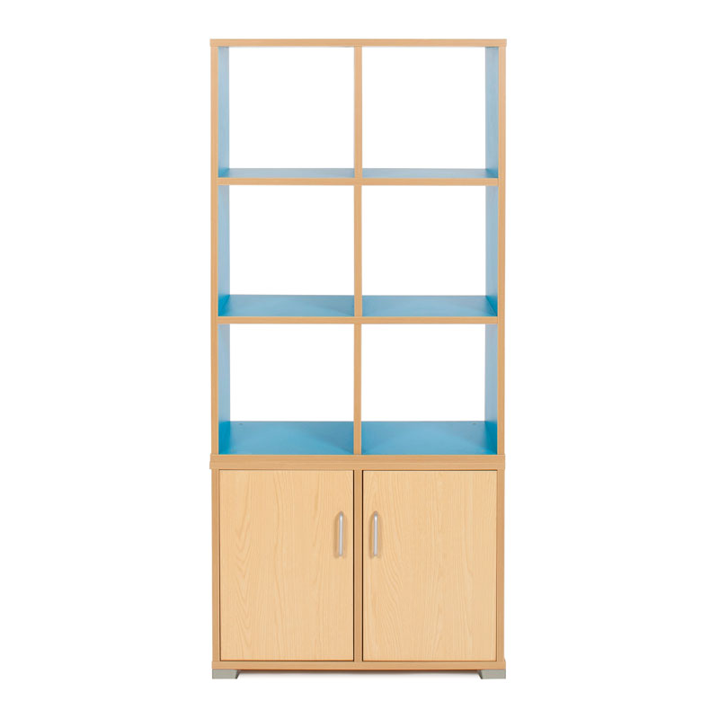 Bubblegum 6 Cube & 2 Bay Low Level Cupboard Room Divider - RDIV-B2