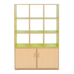 Bubblegum 9 Cube & 3 Bay Low Level Cupboard Room Divider