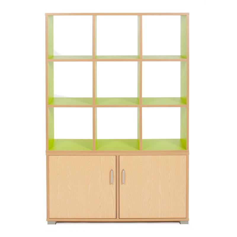 Bubblegum 9 Cube & 3 Bay Low Level Cupboard Room Divider - RDIV-B3