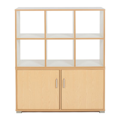 Bubblegum 6 Cube & 3 Bay Low Level Cupboard Room Divider - RDIV-B4