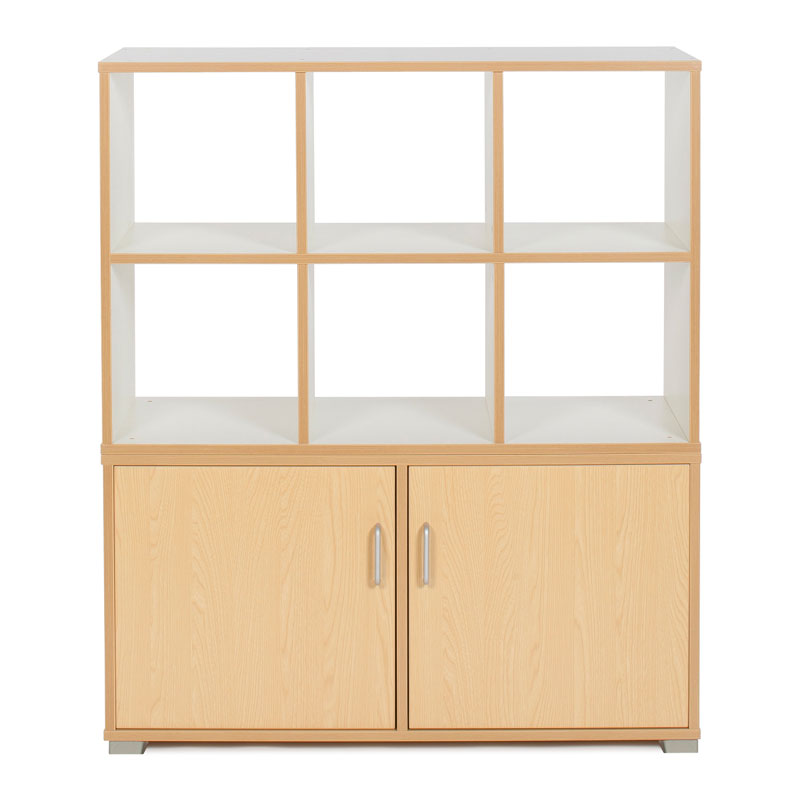 Bubblegum 6 Cube & 3 Bay Low Level Cupboard Room Divider - RDIV-B4