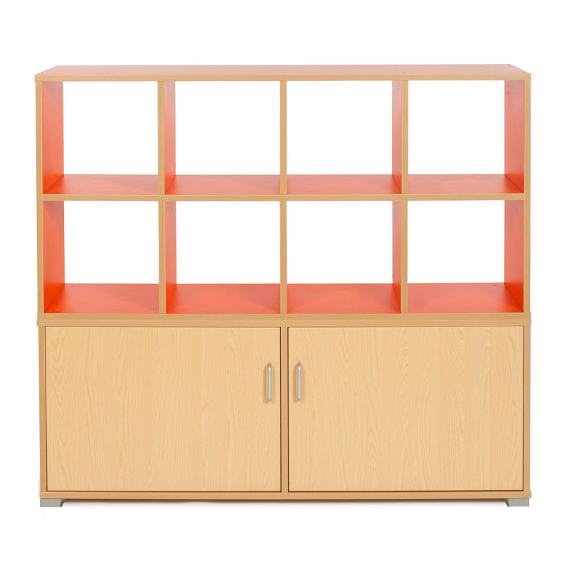 Bubblegum 8 Cube & 4 Bay Low Level Cupboard Room Divider - RDIV-B5