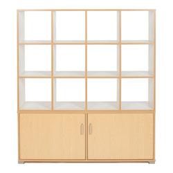 Bubblegum 12 Cube & 4 Bay Low Level Cupboard Room Divider