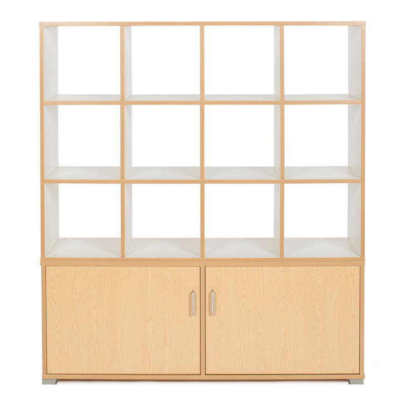 Bubblegum 12 Cube & 4 Bay Low Level Cupboard Room Divider - RDIV-B6