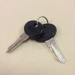 LapCabby Spare/Replacement Flat Key - Set of 2 Keys