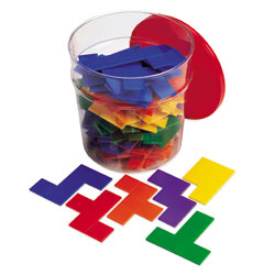 Rainbow Pentominoes Tub - Set of 72 - by Learning Resources