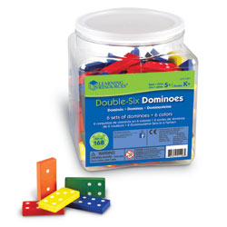 Double-Six Dominoes - Tub of 168 - by Learning Resources [LER0287]