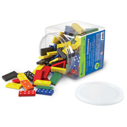 Double-Six Wooden Dominoes Tub - Set of 168 - by Learning Resources