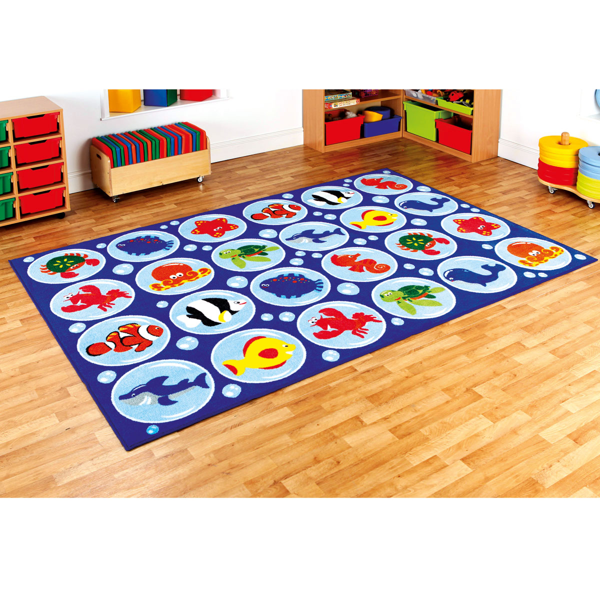 Carpets For Classrooms For Toddlers: Under The Sea Rectangular Placement Carpet