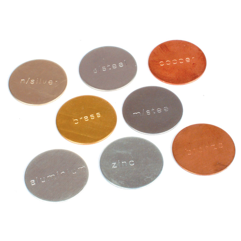 Stamped Metal Discs 25mm (Set of 8) - Mixed Magnetic and Non-Magnetic - CD50096