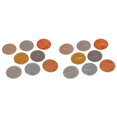 Stamped & Blank Metal Discs 25mm (Set of 16) - Mixed Magnetic and Non-Magnetic - CD50363