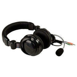 41390 Stereo Headset with Boom Mic, Dual 3.5mm Plugs [41390 , CM41390]
