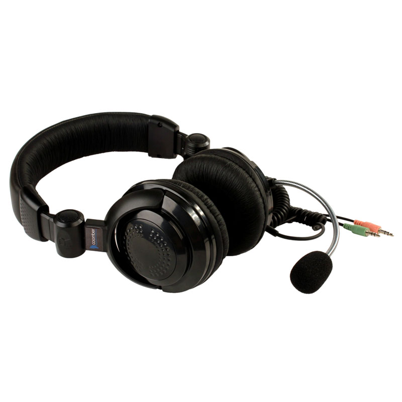 41390 Stereo Headset with Boom Mic, Dual 3.5mm Plugs - 41390