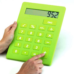 Giant A4 Calculator (Pack of 6) [CD52000-6]