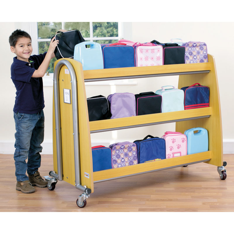 Tuf2 Single Lunchbox Trolley - Holds 30 Lunchboxes (Supplied Flat Packed) - FN0603