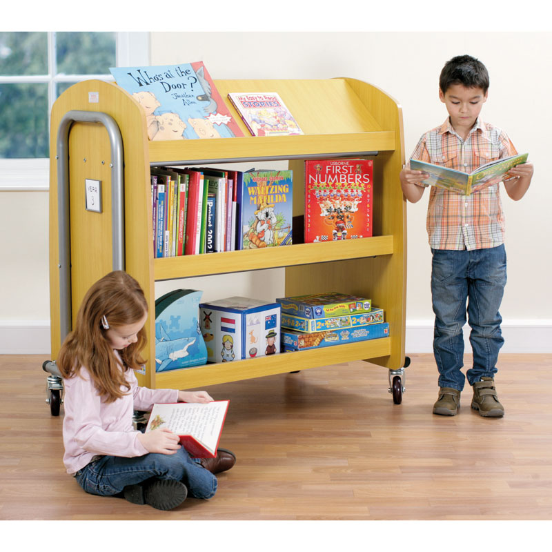 Tuf2 Library Trolley with Display Shelf (Supplied Flat Packed) - FN0605