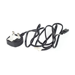 Mains Power Cable UK Plug to Figure of 8 - 3.0m