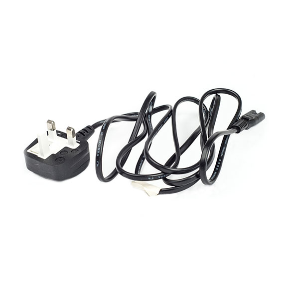Mains Power Cable UK Plug to Figure of 8 - 3.0m - CABLE-C7-3M