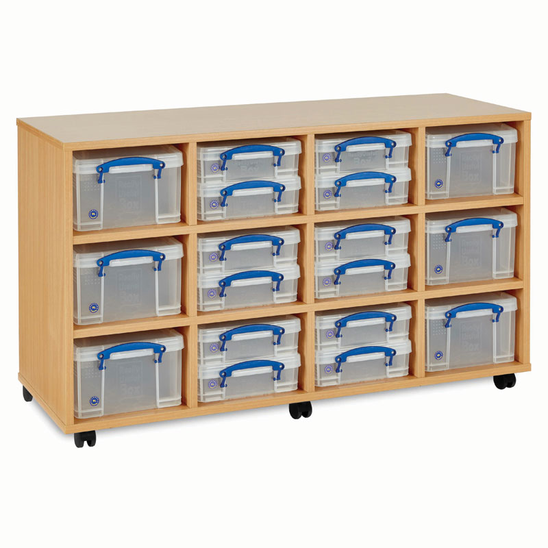 Really Useful Box Storage Unit - 18x Small / Medium Boxes - RUB1224
