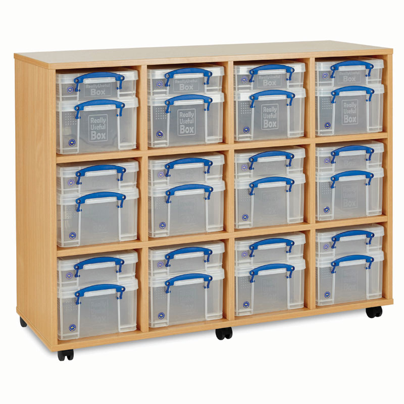 Really Useful Box Storage Unit - 24x Small / Medium Boxes - RUB012