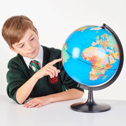Political World Globe - 280mm