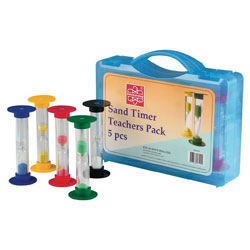 Teacher Large Sand Timer Demonstration Pack - Set of 5 (with Carry Case) [CD92011]