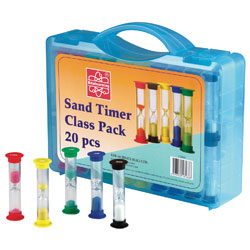 Sand Timer Class Pack - Set of 20 (with Carry Case) [CD92009]