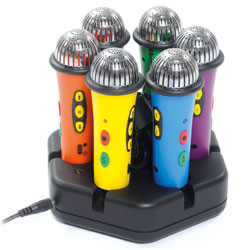 TTS Rainbow Easi-Speak Bundle - 6x Microphones & Docking Station