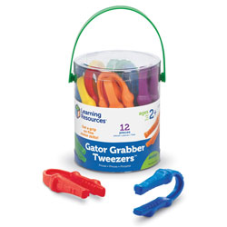 Gator Grabber Tweezers (Set of 12) - by Learning Resources
