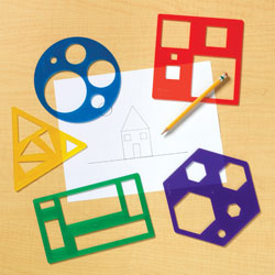 Primary Shapes Template Set - by Learning Resources