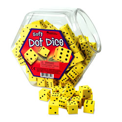 Soft Foam Dot Dice (Set of 200) - by Learning Resources