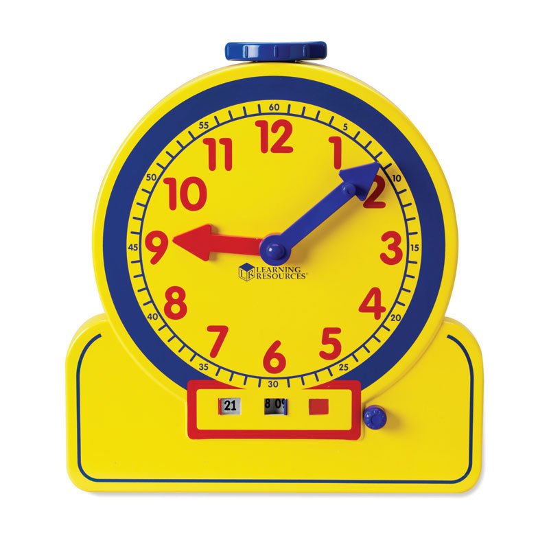 Primary Time Geared Teacher Clock (24 Hour) - Analogue & Digital Time Teacher - Learning Resources - LER2995