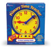 Primary Time Geared Teacher Clock (12 Hour AM/PM) - Analogue & Digital Time Teacher - by Learning Resources - LER2996