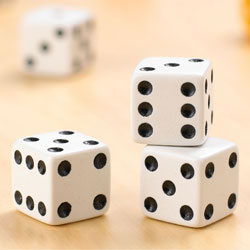 Standard Dot Dice 16mm - Pack of 10