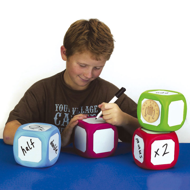 Magnetic Write On/Wipe Off Dice - Large (single - colour may vary) - CD53351