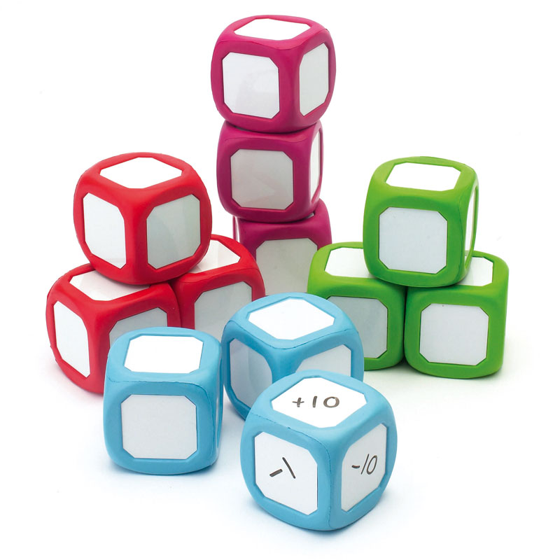 Large Write On/Wipe Off Dice - Set of 12 - CD52462