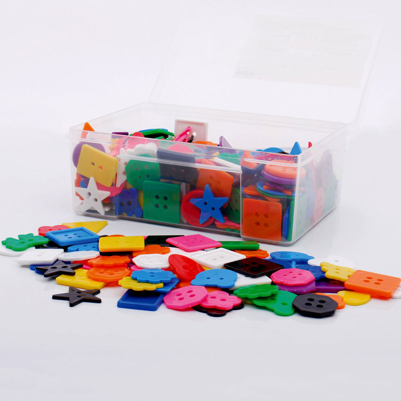 Assorted Small Buttons Tub - Set of 400 - CD54017