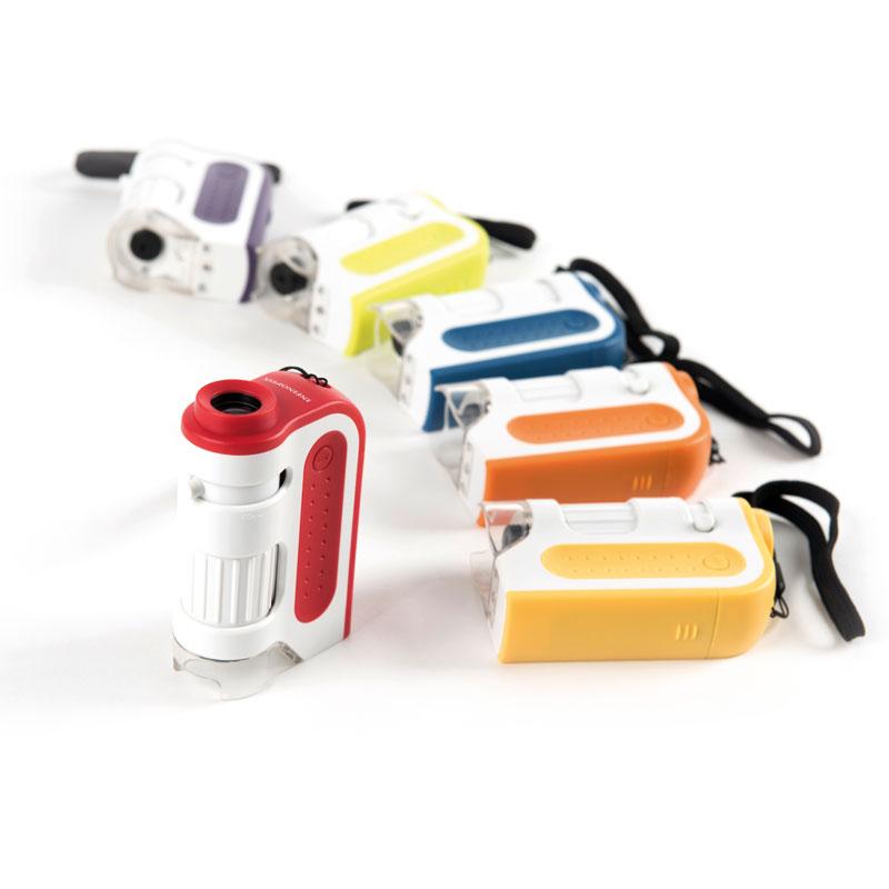 TTS Multi-Coloured Pocket Microscopes - Set of 6 - SC01155