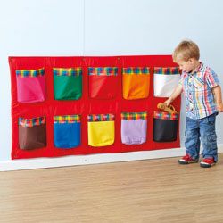 TTS Wall Mounted Rainbow Storage Pockets 120cm