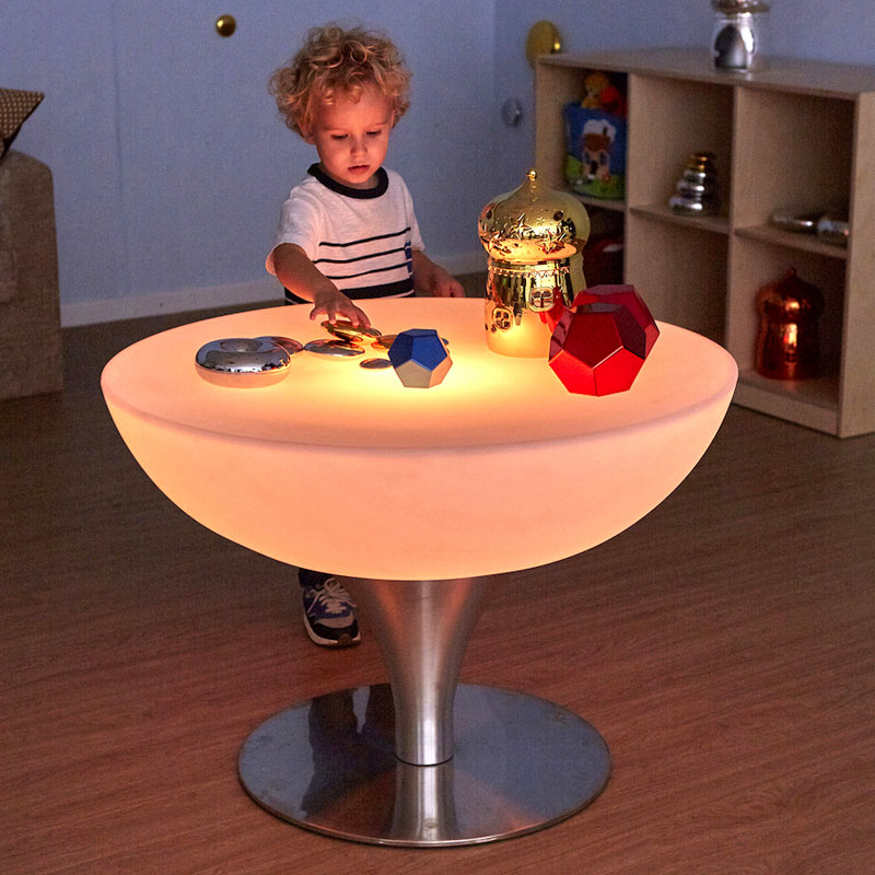 Round Light Up Colour Changing Glow Table - EY07231