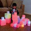 Sensory ICT Glow Construction Blocks Cubes - Set of 12 - EY06793