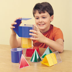 The Original Folding Geometric Shapes Set - Set of 16 - by Learning Resources