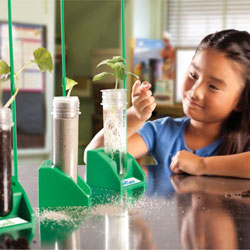 Hydroponics Lab - includes 3x Test Tubes, Seed Baskets & Stands - by Educational Insights
