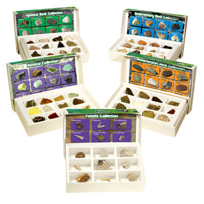 GeoSafari Rock, Mineral and Fossil Collection Bundle - Set of 5 - by Educational Insights - EI-5210