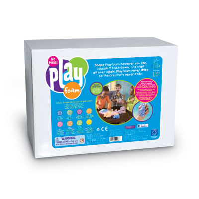 Value Playfoam Class Set - includes 16 Large Bricks (in 8 colours) - by Educational Insights - EI-9268