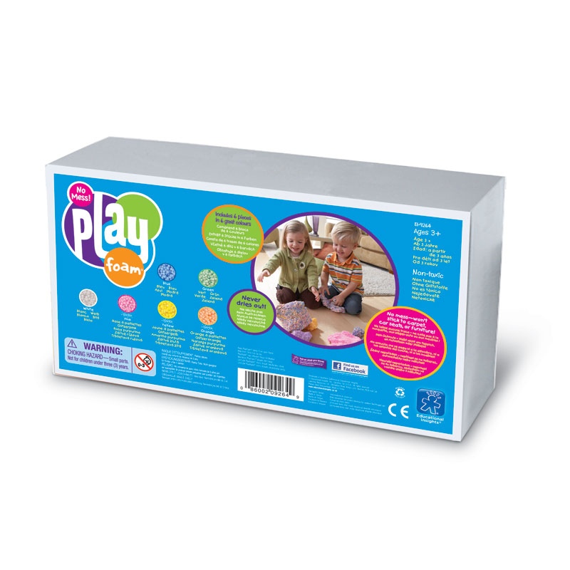 PlayFoam Student Set - includes 6 Bricks (6 colours) - by Educational Insights - EI-9264