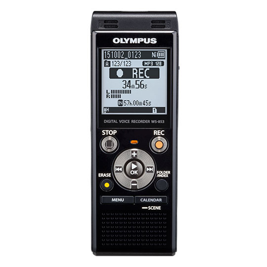 Olympus WS-853 Stereo Voice/Audio Recorder - 8GB built-in memory - WS-853