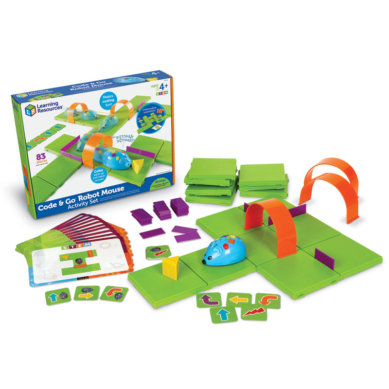 *Box Damaged* Code & Go Programmable Robot Mouse Activity Set - 83 Pieces - by Learning Resources - LER2831/D